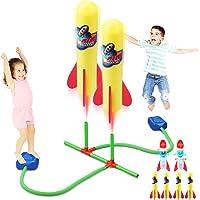 Bonbell Lanceur de Fusée de Duel, Jouet Exterieur Enfant avec 4 Fusée en Mousse + 2 Fusées LED + 2 Lanceur, Jouet…