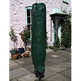 Garden mile® Large Green Parasol Cover,Garden Rotary Air Dryer Cover,Heavy Duty Waterproof UV Protected Parasol Cover,Large Size 195cm x 45cm.