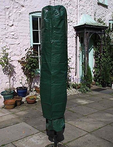 garden mile Jumbo Großer Sonnenschirm Abdeckung 195cm x 45cm , garten Schutz Schirm-abdeckung,Wasserdicht Rotation Lüfter Abdeckung