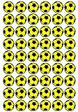 54 Aufkleber, Fußball, Sticker, 30 mm, gelb/schwarz, aus PVC, Folie, bedruckt, selbstklebend, EM, WM, Bundesliga