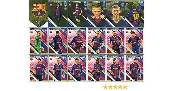 PANINI ADRENALYN XL FIFA 365 2019/compl/ète 18/Cartes FC Barcelone Ensemble de l/équipe