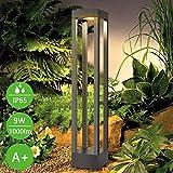 Lampade da giardino led|Palo da Esterno 9W 3000K bianco caldo Altezza 62 cm in Alluminio