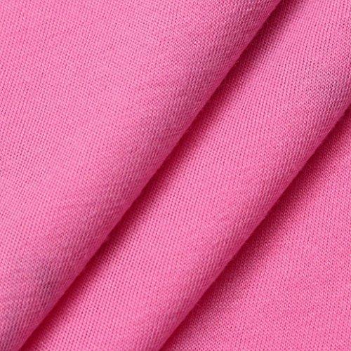 AmazingDays Maglia a manica lunga - Monospalla - Stampa animalier - Donna Rosa