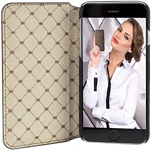 """Bouletta """"Klug"""" Vessel Braun Apple iPhone 6 4.7 Zoll Leder Book Case Hülle Tasche Etui Schale Handytasche Schutzhülle Vintage Retro - Handarbeit 100% Passgenau aus echtem Leder Vessel Braun"""
