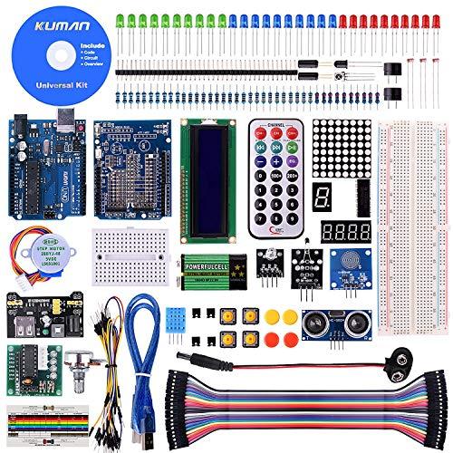 Kuman Progetto Super Starter Kit con Arduino UNO-R3 Mega2560 Mega328 Nano Italiano Tutorial per Principianti K4