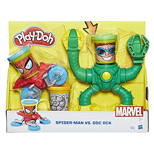 Hasbro Play-Doh B9364EU4 - Marvel Spiderman vs Doctor Octopus, Knete (Play-doh Spiderman)