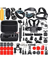 Leknes Accessories for GoPro Hero 6 Hero5 Gopro 4 3 2 1 GoPro Hero Session, Action Camera Mounts for SJ4000 SJ5000 SJ6000 AKASO EK7000 Apeman A70 APEMAN A80 Xiaomi Yi  WiMiUS Sony Sports DV  in Diving Surfing Running Cycling Camping with Case