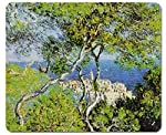1art1 90140 Claude Monet - Bordighera, 1884 Mauspad 23 x 19 cm
