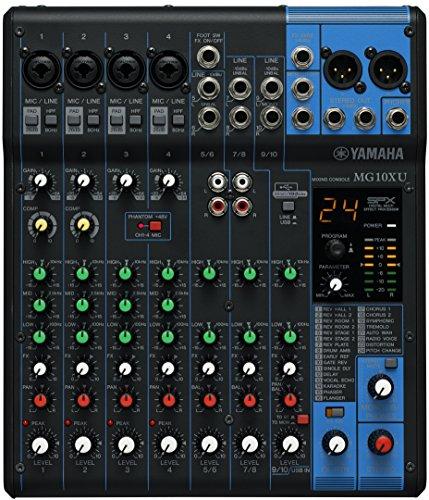 Yamaha MG10XU mezclador DJ - Mezclador para DJ (24 Bit, 192 kHz, 6,3 mm, 22,9W, 24,4 cm, 29,4 cm) Negro