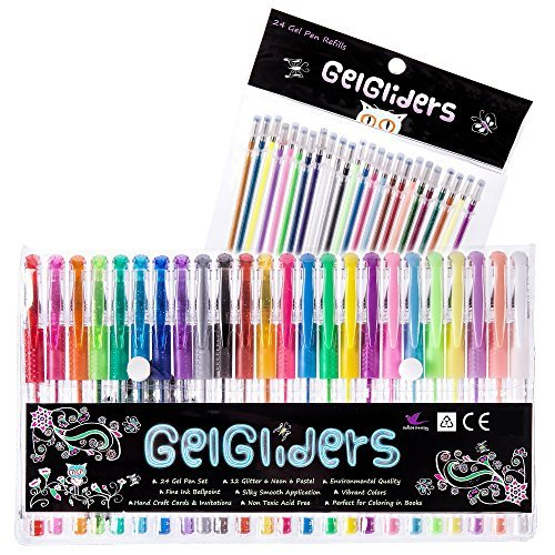 gel-pens-48-24-colored-pens-plus-24-gel-ink-refills-glitter-neon-and-pastel-styles-coloring-and-craf