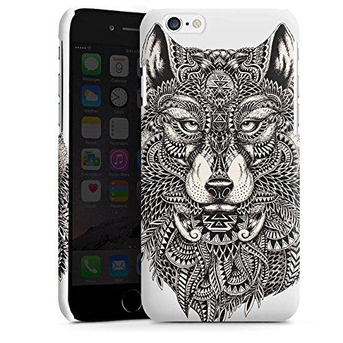 Apple iPhone 5 Housse Outdoor Étui militaire Coque Mandala Loup Chien Cas Premium brillant