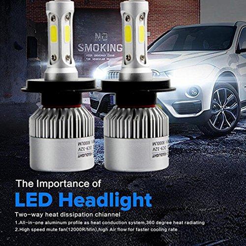 CICIYONER H3 H4 H7 H11 H13 110W 16000LM LED Scheinwerfer Umbausatz Auto Beam Bulb Driving Lampe 6000K (H4)