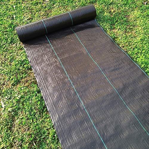 Happyshop18 Unkrautschutz-Membran-Stoff Garten Unkrautsperre Landschafts-Bodenplane für Terrassen, Garten, Hochbeet, 100 x 1500 cm (Punch Eco)