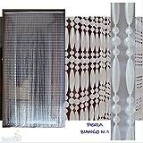 PVC-Türvorhänge Modell Perla - Eichmaß 100X220 / 120X230 / 130X240 / 150X250 - Fliegenvorhang - Kunststoff-Vorhänge (100X220, Matt weiß)