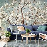 HUANGYAHUI Wandbilder Drücken Sie Die Kirschbäume Japanische Wallpaper Schlafzimmer Tv Hintergrund Tapete Abstrakte Kunst Gemälde