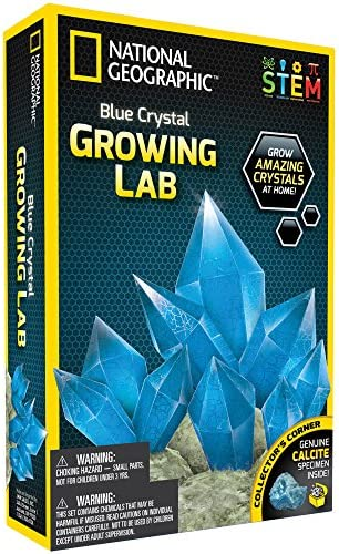 Blue Crystal Growing Kit - 3 Additional Color Choices  ! by National Geographic | Shopping Online