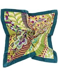 Nella-Mode schickes & elegantes SEIDENTUCH in attraktiven Farben, grün, petrol, lila; Topqualität, 85x85 cm