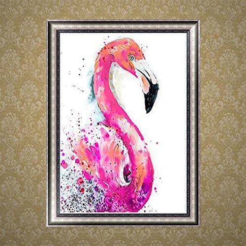 Nuohuilekeji rond DIY Résine Diamant Peinture Flamingo Bird Broderie Craft Décoration de la Maison