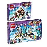LEGO City Set en 2 parties 41323 41324 Le chalet de la station de ski + La station de ski...