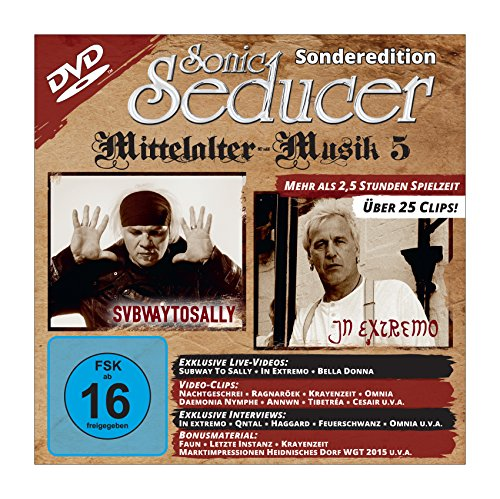 Sonic Seducer Sonderedition Mittelalter-Musik 5 im XL-Format (DIN A 3) + DVD mit über 25 Clips + 2 XL-Poster: Subway To Sally + Saltatio Mortis, Bands: In Extremo, Corvus Corax, Schandmaul u.v.m.