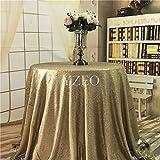 Yzeo Tischdecke mit Pailletten, für Hochzeit/Party/Zuhause, verschiedene Größen und Farben zur Auswahl, Sonstige, #30 matte gold, 182,9 cm