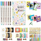 Katia 7 in 1 Mini 8 Accessories Set for Fujifilm Instax Mini 8 Instant Camera - Instax Mini Book Album - Instax Mini 8 Camera Strap - Instax Mini Photo Frames - Instax Film Sticker Border - Wall Decor Hanging Frame - Photo Pens - Set 14 - Clover