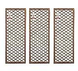 Set of 3 x Rectangle Willow Trellis - Framed Panel (120cm x 45cm)
