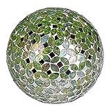 Formano Mosaikkugel mit LED-Licht, 15 cm, grün