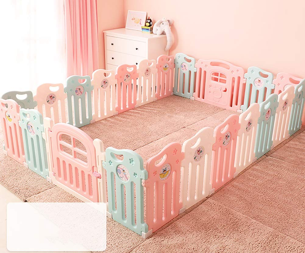 Playpen Baby Baby Play Fence Child Safety Boy And Girl Safety Activities Home Play House Infant Toddler Crawling Mat (Size : 20+2)  ZAY