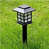 2er Set LED Solar Laterne, Außen Gartenleuchte mit Erdspieß, Landschaft Lichter Straßenlaterne für Hof Garten und Rasen, Wasserdicht ( Kaltweiß )