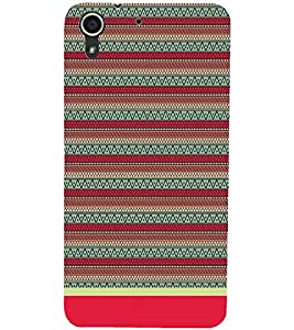 PrintDhaba Tribal Pattern D-1716 Back Case Cover for HTC DESIRE 728 (Multi-Coloured)