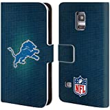 Official NFL LED 2017/18 Detroit Lions Leather Book Wallet Case Cover For Samsung Galaxy S5 mini