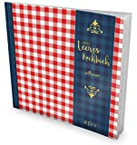 """GOCKLER® Leeres Kochbuch: Ein Rezeptbuch zum Selbstgestalten / Selberschreiben • Für 100 Lieblingsrezepte, mit Register uvm. • DesignArt """"Rotes Karomuster"""" • Softcover, ca. 21 x 21 cm"""