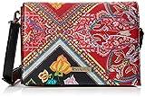 Desigual Bag Folklore Cards Imperia Women, Sacs bandoulière femme, Rouge (Rojo...