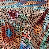 laro Wachstuch-Tischdecke Abwaschbar Garten-Tischdecke Wachstischdecke PVC Plastik-Tischdecken Eckig Meterware Wasserabweisend Abwischbar |14|, Größe:140x220 cm - 3