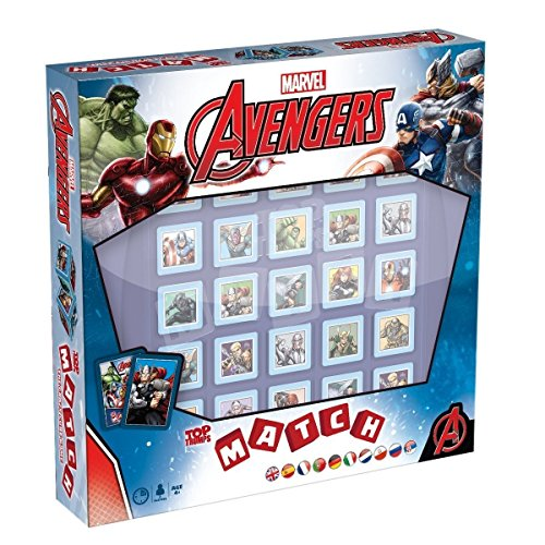 MATCH Marvel Avengers - das strategische Würfelspiel mit den Helden und Schurken des Marvel Universe | Gesellschaftsspiel | Familienspiel | Reisespiel |