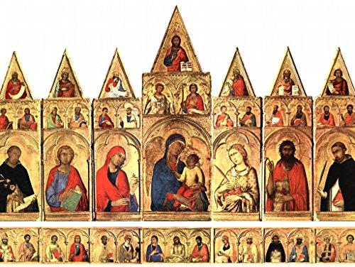 Lais Puzzle Simone Martini - retablo de Pisa, Escena: Virgen con Santos 100 Piezas