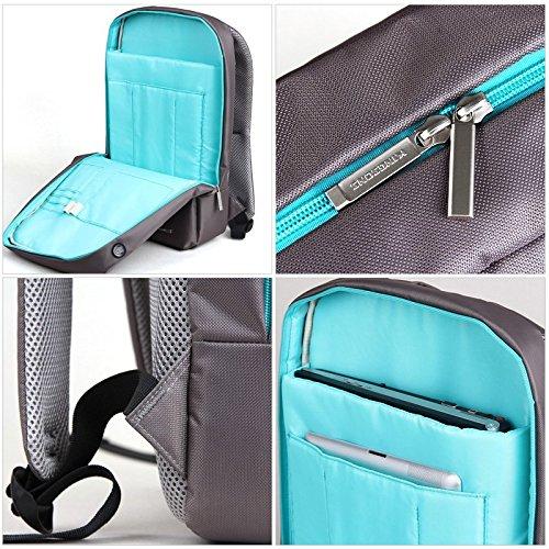 Kingsons Evolution Series 15.6 Grey Waterproof Laptop Backpack