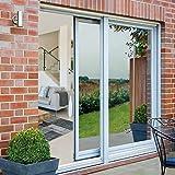 Rabbitgoo Spiegelfolie Sonnenschutzfolie selbstklebende Fensterfolie Tönungsfolie Sichtschutz Wärmeisolierung 99% UV-Schutz Silber 44.5 x 200 CM