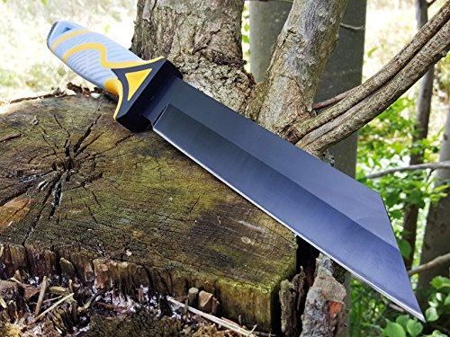 schweres und robustes 35cm Tanto Outdoor-Survival-Jagd-Camping-Angelmesser mit TacHide Griff