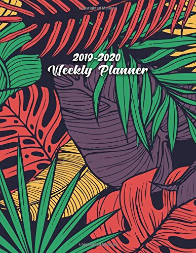 2019-2020 Weekly Planner: Cute Tropical Banana Leaves & Ferns Daily, Weekly and Monthly Planner. Pretty Two Year Organizer, Schedule and Agenda with ... Quotes, Notes, To-Do's, Vision Boards, ... (Gold Board Banana)