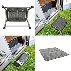 ZERBINO per gradini Roulotte Camper Zerbino, 45x 40cm, colore: grigio