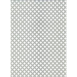 GAH-ALBERTS 466893 - Chapa perforada - cross-slot, aluminio anodizado color plata, 250 X 500 X 0,8 Mm