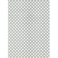 GAH-ALBERTS 466893 - Chapa perforada - cross-slot, aluminio anodizado color plata