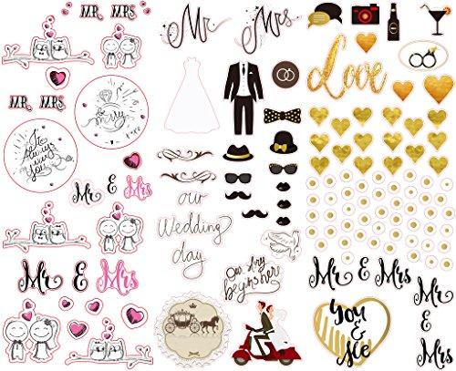 Polaroid bunte und dekorative Hochzeitsticker für 5 x 7,5 cm Fotopapier Projekte (Snap, Zip, Z2300) - 3 Seiten