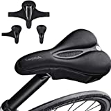 Bike Seat Cover padded, Extra Soft Comfort Bike Saddle Cover Cushion,Non-Slip Gel Pad Seat for Road Mountain or Spinning…