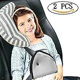 Vamei Sicherheitsgurte mit Kissen und Sicherheitsgurteschlosser für Kinder und Erwachsene mit Sitz-Gurt-Polster-Unterstützung und Sicherheitsgurte mit komfortabeln Kissen