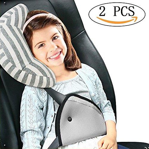 Preisvergleich Produktbild Vamei Sicherheitsgurte mit Kissen und Sicherheitsgurteschlosser für Kinder und Erwachsene mit Sitz-Gurt-Polster-Unterstützung und Sicherheitsgurte mit komfortabeln Kissen