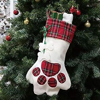 Aisoway Calcetín De Navidad Que Cuelgan del Perro De Las Decoraciones De La Media De Caramelo Bolsa Decorativo Bolsa De Regalo del Ornamento por Partido