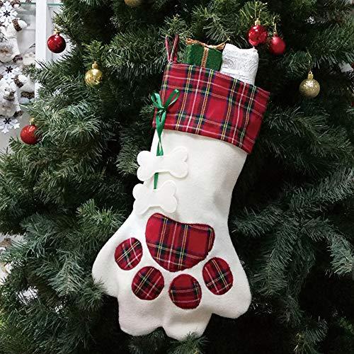 Aisoway Calcetín De Navidad Que Cuelgan Perro De